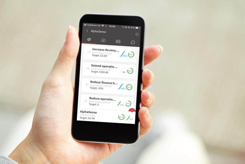 EXM app on smartphone