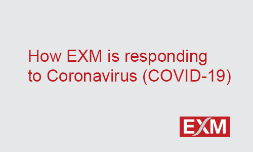 Update: How EXM is responding to Coronavirus